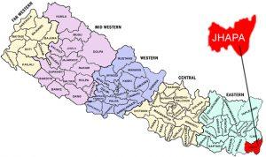 Jhapa_nepal-map