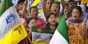 GJM Protest At Jantar Mantar For Separate Gorkhaland