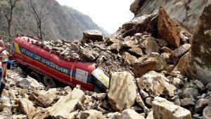 Muglin-Narayangadh-road-section-obstructed-by-dry-landslide