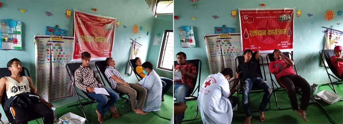 युवा सङ्गठनले पनि सुरु गर्यो रक्तदान अभियान