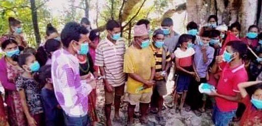 नेकपा दैलेखले बाँड्यो स्वास्थ्य सुरक्षा सामग्री