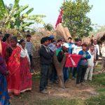 कपिलवस्तुमा नेकपा नेता कञ्चनको रिहाइको माग गर्दै प्रदर्शन