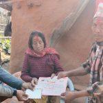 युवा संगठन नेपाल गुल्मीद्वारा सहिद परिवारलाई सम्मान