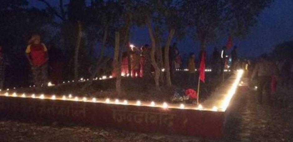 शिवगढीमा सहिद परिवारहरुसँग भेटघाट तथा दीप प्रज्वलन
