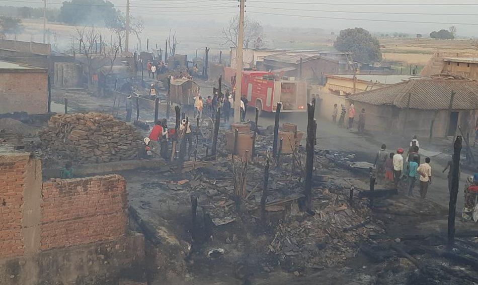 बाँकेमा सय बढि घर जलेर नष्ट