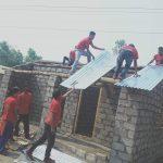एकल महिलाको घर निर्माण गर्दै नेकपा