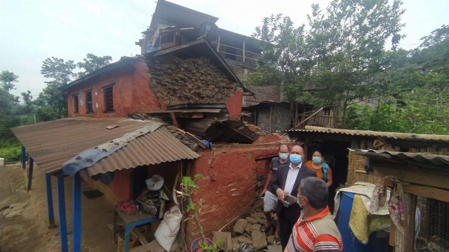 लमजुङमा ५.८ म्याग्निच्युडको भूकम्प, वृद्धा घाइते
