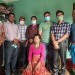 नेकपाद्वारा सहिद परिवारलाई खाद्यान्न व्यवस्थापन