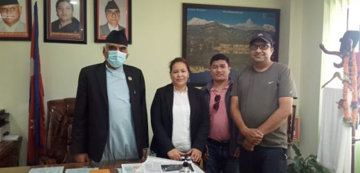 गण्डकी प्रदेशका मुख्यमन्त्री पोख्रेल र नेकपाका नेताहरूबीच भेटघाट