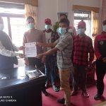 युवा सङ्गठन नेपाल म्याग्दीले जिल्ला प्रशासनलाई बुझायो ज्ञापनपत्र