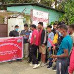 युवा संगठन नेपाल दाङद्वारा सिडियो कार्यालयमा धर्ना तथा ज्ञापनपत्र पेश